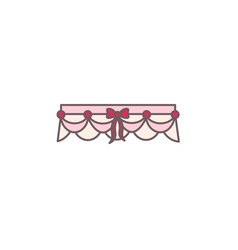 bride garter with decorative bow vector image