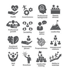business management icons pack 46 icons for vector image