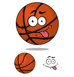 Cartoon basketball ball character with happy vector