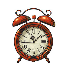Cartoon old alarm clock vector