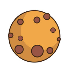 Chocolate cookie icon vector