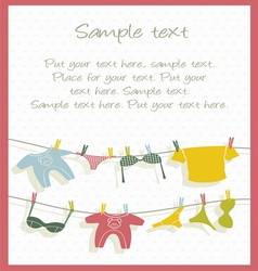 Clothesline background vector