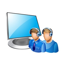 computer admin vector image