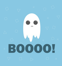 cute ghost flat design halloween banner vector image