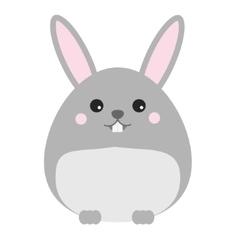 Cute kawaii rabbit bunny hare character vector image