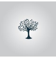 Decorative simple tree vector image
