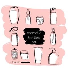Doodle Cosmetic packaging set vector