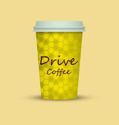 Drive coffee take away vector