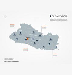 el salvador infographic map vector image