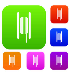 electric cable in coil set collection vector image
