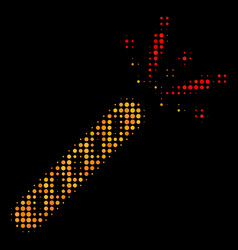 firecracker halftone icon vector image