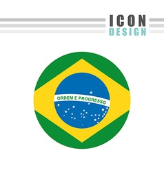 Flag icon design vector image vector image