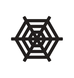 Flat icon in black and white style spider web vector