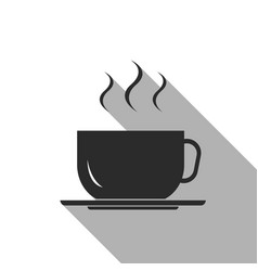 flat icon of coffee cup vector image