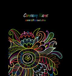 floral card sketch for your design vector image