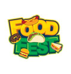 Food fest logo design vector