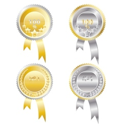 Four medals vector