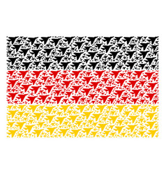 Germany flag mosaic of airplane intercepter items vector