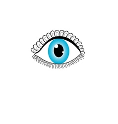 graphic eye vector image