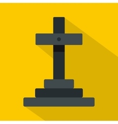 Grave icon flat style vector