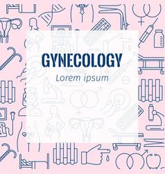 Gynecology flat poster vector