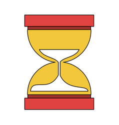 Hourglass or sandglass icon image vector