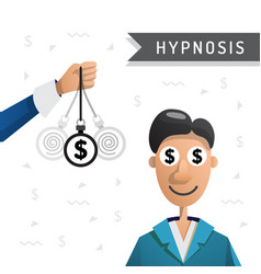 hypnosis man money vector image