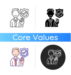 Integrity icon vector