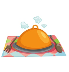 Isolated cloche restaurant vector