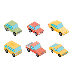 Isometric selection of vehicles vector