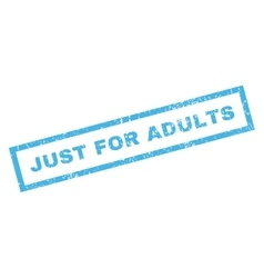 Just For Adults Rubber Stamp vector image