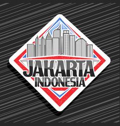 logo for jakarta vector image
