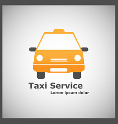 Logotype for taxi service vector