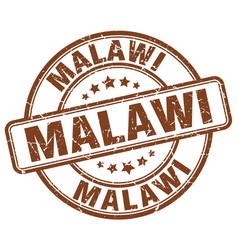 Malawi brown grunge round vintage rubber stamp vector
