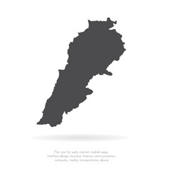 map lebanon isolated black vector image