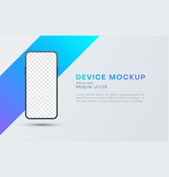 mobile device landing page website design vector image