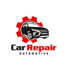 Modern car repair logo design vector