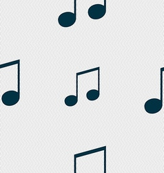 musical note music ringtone icon sign Seamless vector image