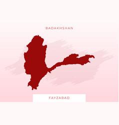 National map badakhshan badakhshan map vector