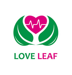 natural love and health logo design template vector image