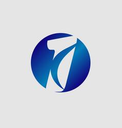 number logo designnumber one logo vector image
