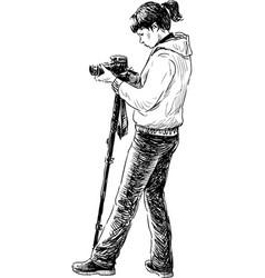 Photographer shooting vector