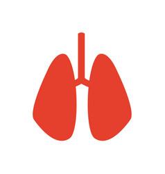 pictogram lung human organ healthycare icon vector image