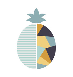 pineapple in geometric modern style fruit vector image