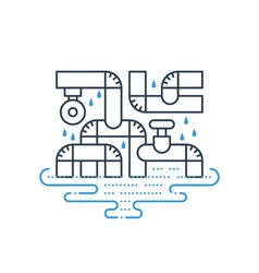 Plumbing services concept dropping water from vector image