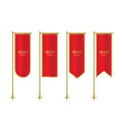 Red vertical banner flag templates vector image