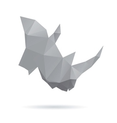 Rhinoceros head abstract isolated on a white vector image