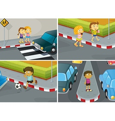 Road safety vector image vector image