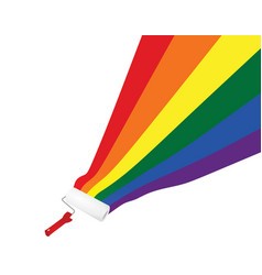 Roller roll rainbow colors vector