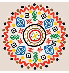 Round ornament with ethnic motifs vector image
